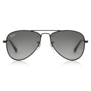 Ray-Ban Junior RJ9506S Aviator 220/11 Kids' Sunglasses Black Size 50