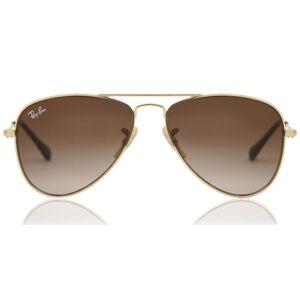 Ray-Ban Junior RJ9506S Aviator 223/13 Kids' Sunglasses Gold Size 50