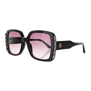 Elie Saab 015/S 0B3V/3X Women's Sunglasses Black Size 54