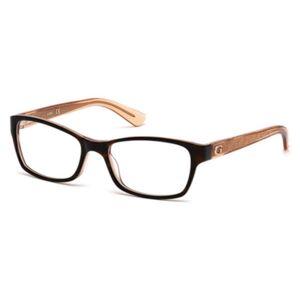 Guess GU 2591 056 Women's Glasses Tortoise Size 50 - Free Lenses - HSA/FSA Insurance - Blue Light Block Available