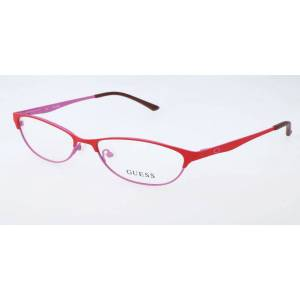 Guess GU 2504 073 Women's Glasses Red Size 53 - Free Lenses - HSA/FSA Insurance - Blue Light Block Available