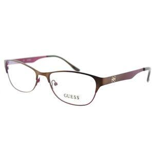 Guess GU 2398 BRNBU/E55 Women's Glasses Brown Size 53 - Free Lenses - HSA/FSA Insurance - Blue Light Block Available