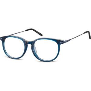 SmartBuy Collection Oval Full Rim Plastic Women's Glasses Discount Online Blue Size 50, Free Lenses, HSA/FSA Insurance, Blue Light Block Available - SmartBuy Collection