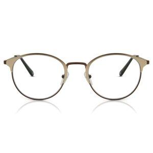 SmartBuy Collection Oval Full Rim Metal Men's Glasses Discount Online Brown Size 49, Free Lenses, HSA/FSA Insurance, Blue Light Block Available - SmartBuy Collection