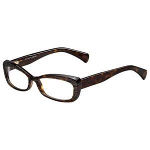 Alexander McQueen AMQ 4203 086 Women's Glasses Tortoise Size 52 - Free Lenses - HSA/FSA Insurance - Blue Light Block Available