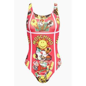 Moschino Scoop Tank One Piece Swimsuit - Fuchsia Pink Gelati Print
