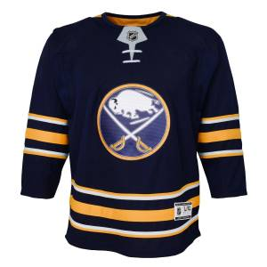 NHL Team Apparel Buffalo Sabres NHL Premier Youth Replica Home Hockey Jersey by NHL Team Apparel - Navy - Polyester - Size Small/M - IceJerseys