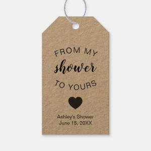 Zazzle From My Shower To Yours Bridal Shower Soap Favor Gift Tags