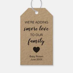 Zazzle New Baby Tags, Adding S'more Love to Our Family Gift Tags