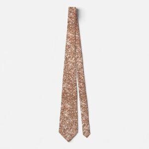 Zazzle Sparkly Shiny Glitter Rose Gold Neck Tie