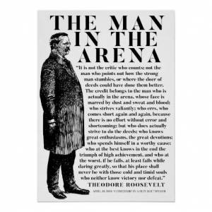 Zazzle Theodore Roosevelt 'Man In The Arena' Speech Poster
