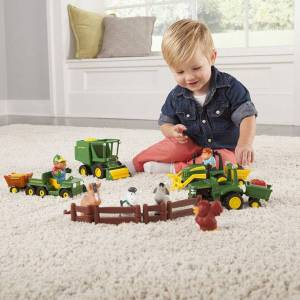 John Deere, Tomy John Deere Preschool Fun On The Farm Playset - Baby Toys & Gifts for Ages 1 to 2 - Fat Brain Toys