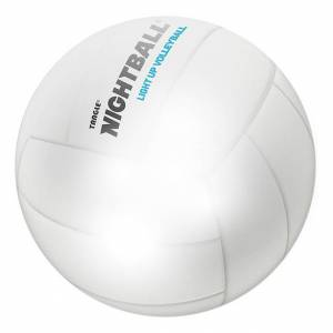 Tangle NightBall Volleyball - Pearl White - Active Play for Ages 8 to 12 - Fat Brain Toys