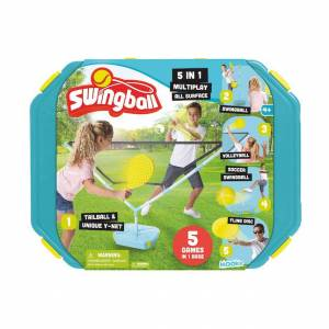 National Sporting Goods Swingball 5 in 1 Multi Play - Active Play for Ages 5 to 9 - Fat Brain Toys