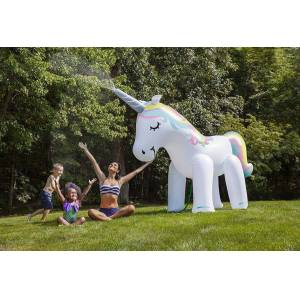 Bigmouth Inc. Unicorn Yard Sprinkler - Active Play for Ages 4 to 8 - Fat Brain Toys