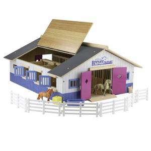 Breyer, Reeves International Breyer Farms Deluxe Stable Playset - Imaginative Play for Ages 4 to 10 - Fat Brain Toys