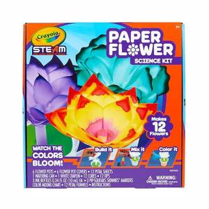 Crayola STEAM Paper Flower Science Kit - Arts & Crafts for Ages 7 to 12 - Fat Brain Toys
