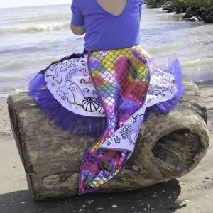 Creative Labs Color-a-Skirt Mermaid - Arts & Crafts for Babies - Fat Brain Toys