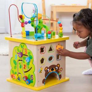Fat Brain Toys Deluxe Busy Time Play Cube -  - Fat Brain Toys