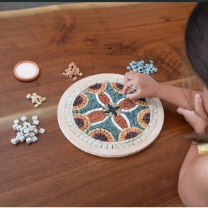 Fat Brain Toys Make A Real Mosaic - Mandala Medallion - Arts & Crafts for Ages 8 to 12 - Fat Brain Toys