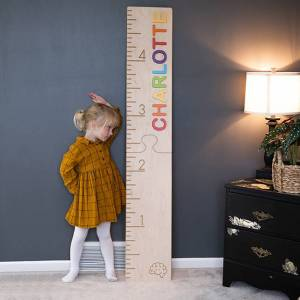 Fat Brain Toys Personalized Wooden Ruler Growth Chart -  - Fat Brain Toys