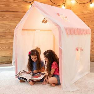 Fat Brain Toys Dreamy Tent - Pink - Imaginative Play for Ages 3 to 8 - Fat Brain Toys
