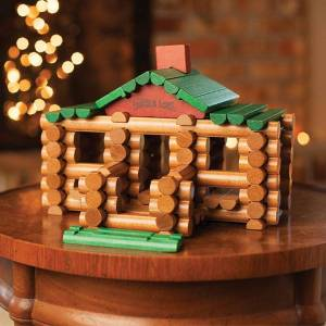 Hasbro Lincoln Logs 100th Anniversary Tin - 111 pc - Building & Construction for Ages 3 to 11 - Fat Brain Toys