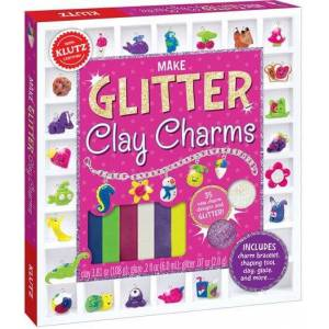 Klutz Make Glitter Clay Charms - Arts & Crafts for Ages 8 to 9 - Fat Brain Toys