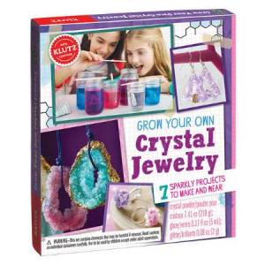Klutz Grow Your Own Crystal Jewelry - Arts & Crafts for Ages 8 to 12 - Fat Brain Toys