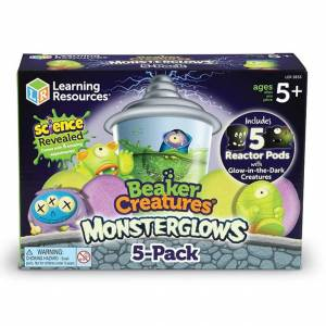 Learning Resources Beaker Creatures Monsterglow 5-Pack - Imaginative Play for Ages 5 to 9 - Fat Brain Toys