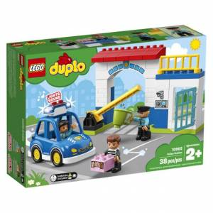 Lego DUPLO Town - Police Station - Building & Construction for Ages 2 to 3 - Fat Brain Toys