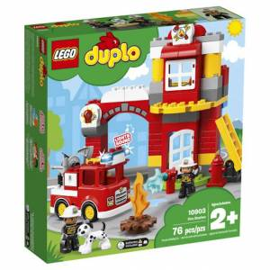 Lego DUPLO Town - Fire Station - Building & Construction for Ages 2 to 4 - Fat Brain Toys