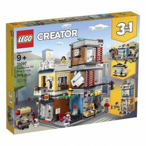 Lego Creator - Townhouse Pet Shop & Cafe - Building & Construction for Ages 9 to 12 - Fat Brain Toys