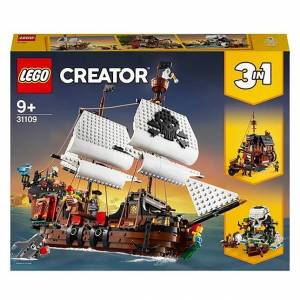 Lego Creator - Pirate Ship - Building & Construction for Ages 9 to 12 - Fat Brain Toys