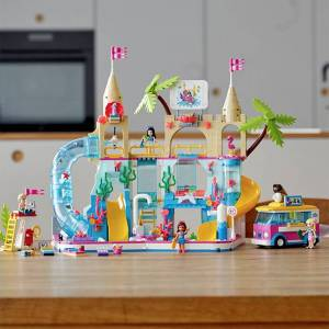 Lego Friends - Summer Fun Water Park - Building & Construction for Ages 8 to 12 - Fat Brain Toys