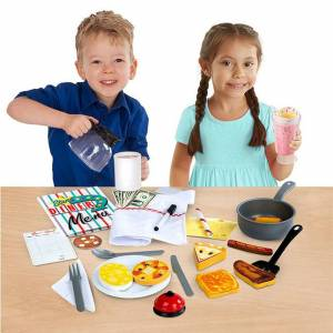 Melissa & Doug Star Diner Restaurant Play Set - Imaginative Play for Ages 3 to 7 - Fat Brain Toys