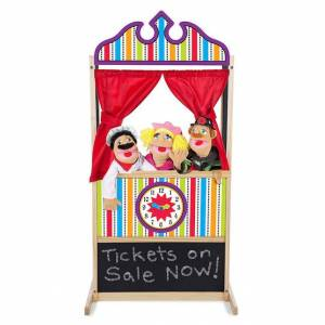 Melissa & Doug Puppet Time Theater - Imaginative Play for Ages 3 to 7 - Fat Brain Toys
