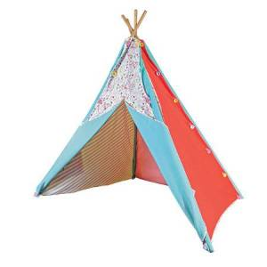 Pacific Play Tents Button & Blooms Interchangeable Teepee - Active Play for Ages 3 to 6 - Fat Brain Toys