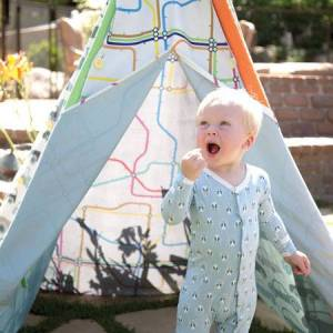 Pacific Play Tents Traffic Jam Interchangeable Teepee - Active Play for Ages 3 to 6 - Fat Brain Toys