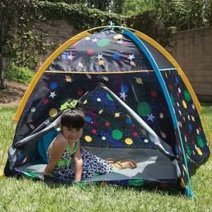 Pacific Play Tents Galaxy Dome Tent with Glow in the Dark Stars - Imaginative Play for Ages 2 to 7 - Fat Brain Toys