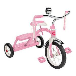 Radio Flyer - Classic Pink Dual Deck Tricycle - Active Play for Babies - Fat Brain Toys