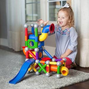 SmartMax Magnetic Ball Run - Building & Construction for Ages 3 to 4 - Fat Brain Toys