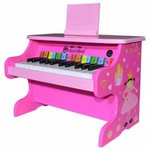 Schoenhut Piano Company 25 Key Table Top Digital Piano - Princess - Music for Ages 3 to 7 - Fat Brain Toys