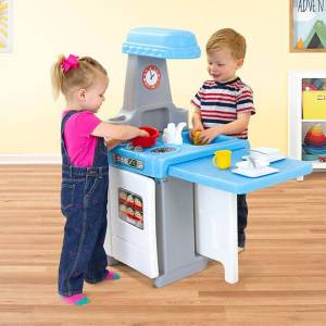 Simplay3 Company Play Around Kitchen & Activity Center - Imaginative Play for Ages 2 to 6 - Fat Brain Toys