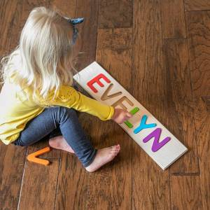 Fat Brain Toys Personalized Name Puzzle - COLLINS - Early Learning Toys for Babies - Fat Brain Toys