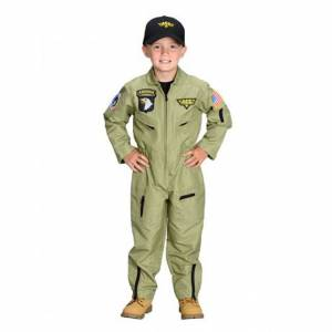 Aeromax Personalized Jr. Fighter Pilot Suit with Cap - Size 6/8 - Imaginative Play for Ages 3 to 10 - Fat Brain Toys