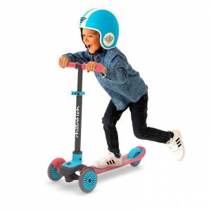 Chillafish Scotti 3-Wheel Lean-To-Steer Scooter - Red - Active Play for Ages 3 to 8 - Fat Brain Toys
