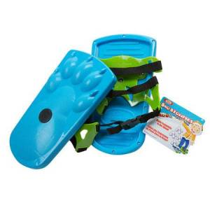 Ideal, Poof Slinky Sno Stompers Sand Stompers - Blue Bear - Active Play for Ages 5 to 6 - Fat Brain Toys