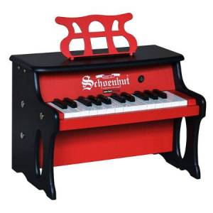Schoenhut Piano Company 25 Key Table Top Digital Piano - Red & Black - Music for Ages 3 to 6 - Fat Brain Toys