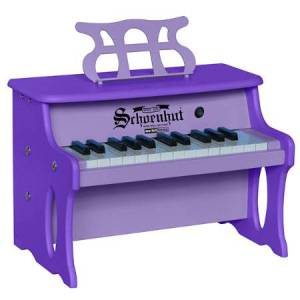 Schoenhut Piano Company 25 Key Table Top Digital Piano - Two Tone Purple - Music for Ages 3 to 6 - Fat Brain Toys